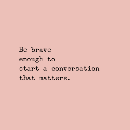 pink brave quote